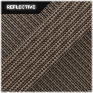 Super reflective paracord 50/50, Chocolate Stripes #RSt178