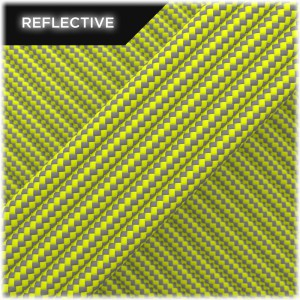 Super reflective paracord 50/50, Sofit yellow Stripes #RSt319