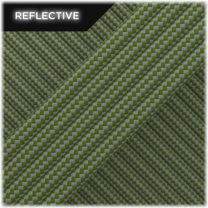 Super reflective paracord 50/50, Moss Stripes #RSt331