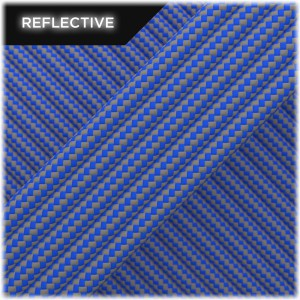 Super reflective paracord 50/50 , Royal blue Stripes #RSt376