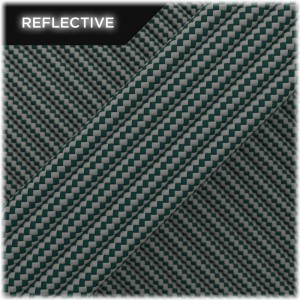 Super reflective paracord 50/50 , Dark green Stripes #RSt414