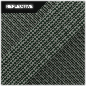 Super reflective paracord 50/50 , Mil Green Stripes #RSt442