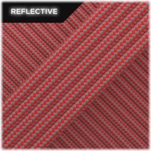 Super reflective paracord 50/50, Raspberry Stripes #RSt450