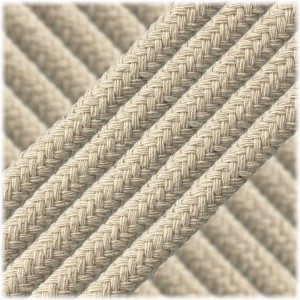 Braided Cotton Rope - 10 mm white