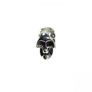 "Paracord bead ""Skull"", silver"