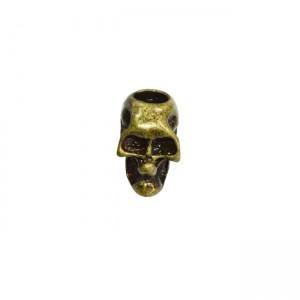 "Paracord bead ""Skull"", bronze"