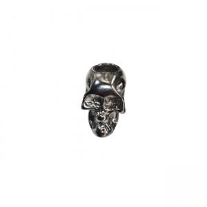 "Paracord bead ""Skull"", black"